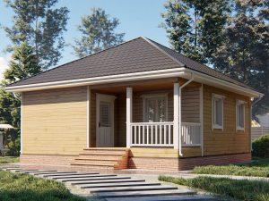 Дом с чертежом 8х8