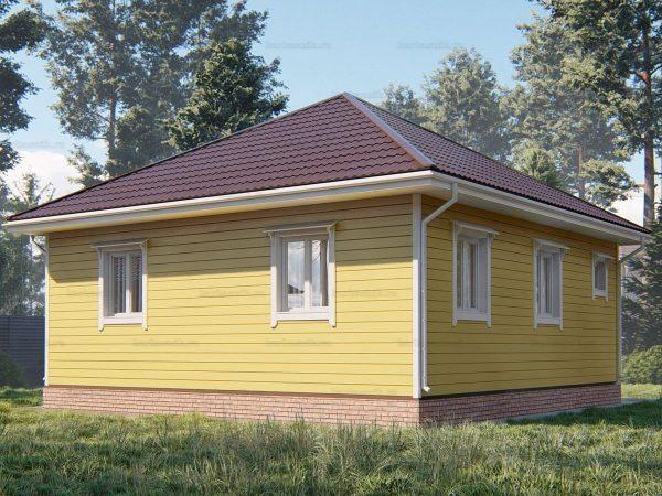 Проект каркасного зимнего дома 8х8 для строительства под ключ