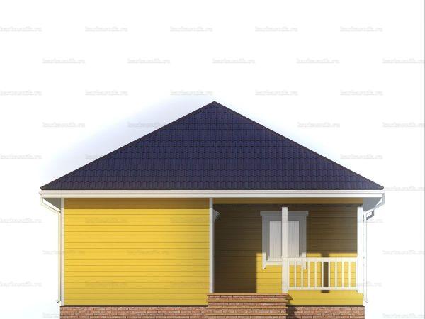 Дом для проживания с вальмовой крышей 8х8 фото 3