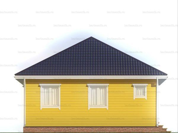 Дом для проживания с вальмовой крышей 8х8 фото 4