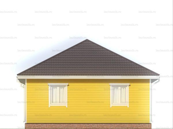 Дом для проживания с вальмовой крышей 8х8 фото 5