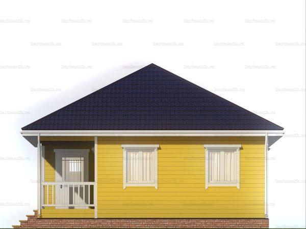 Дом для проживания с вальмовой крышей 8х8 фото 6