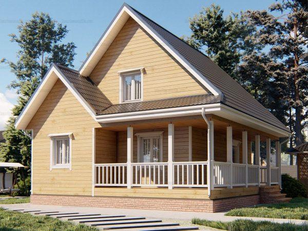 Дом с террасой 9х8.5