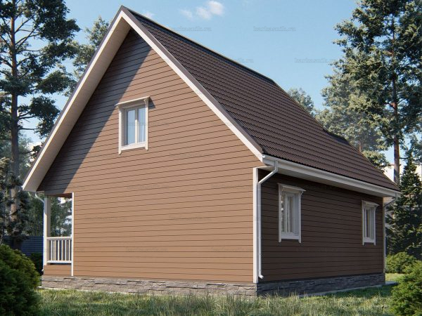 Проект каркасного зимнего дома 9х8.5 для строительства под ключ
