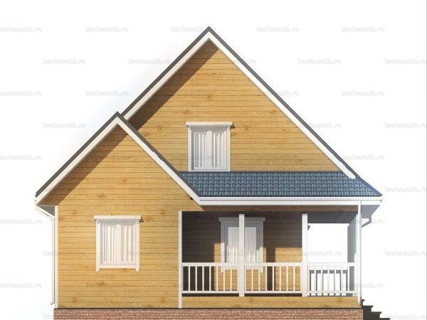 Дом с террасой 9х8.5 фото 3