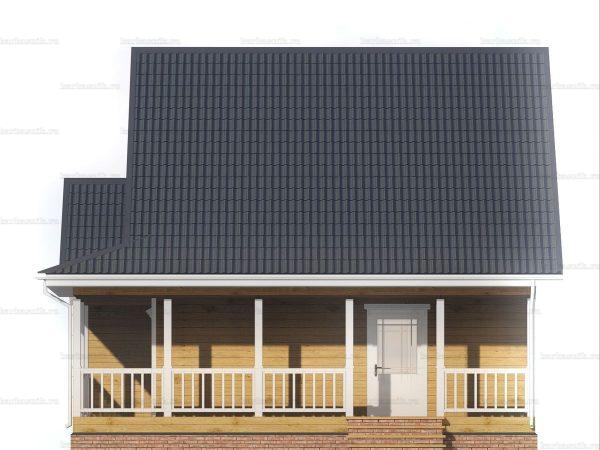 Дом с террасой 9х8.5 фото 6