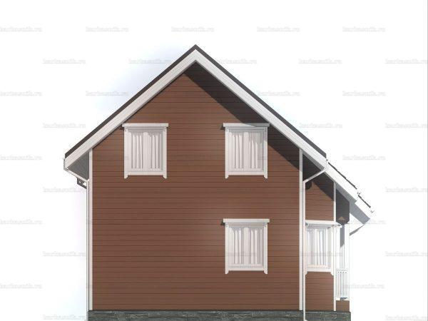Дом под ключ из каркаса 8х7.5 фото 4