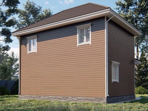 Проект каркасного зимнего дома 9х7 для строительства под ключ