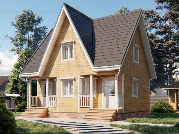 Дом со сборкой 8х7