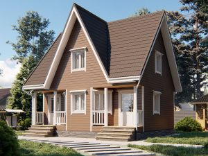 Строительство щитового дома 8х7