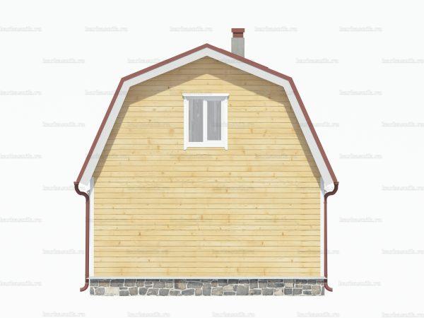 Дом из сруба 6 на 6 фото 4
