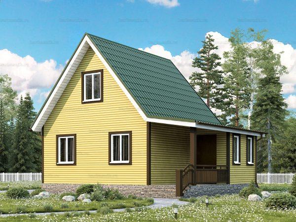 Каркасный дом с отделкой 8х6