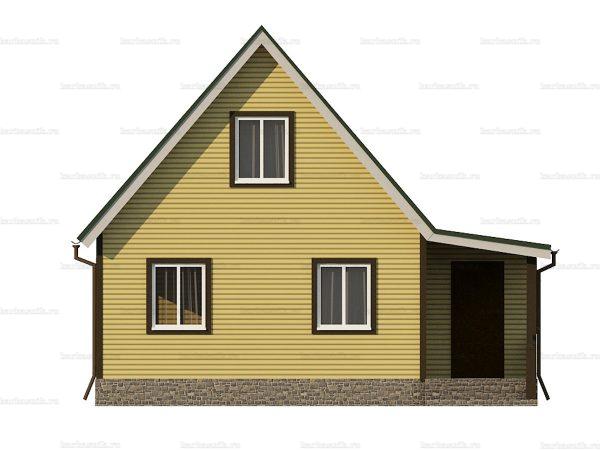 Каркасный дом с отделкой 8х6 фото 3