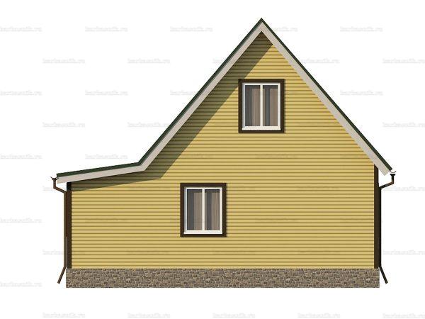 Каркасный дом с отделкой 8х6 фото 5