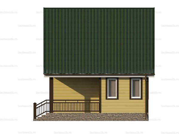 Каркасный дом с отделкой 8х6 фото 4