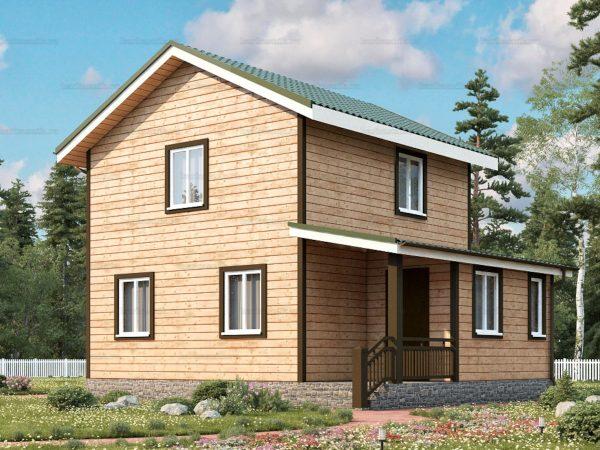 Дом под ключ с двухскатной крышей 8 на 6