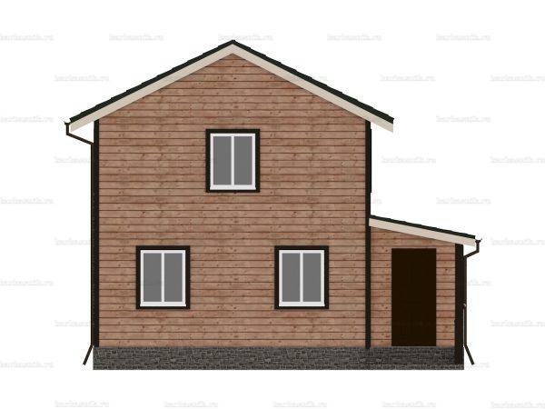Дом под ключ с двухскатной крышей 8 на 6 фото 3