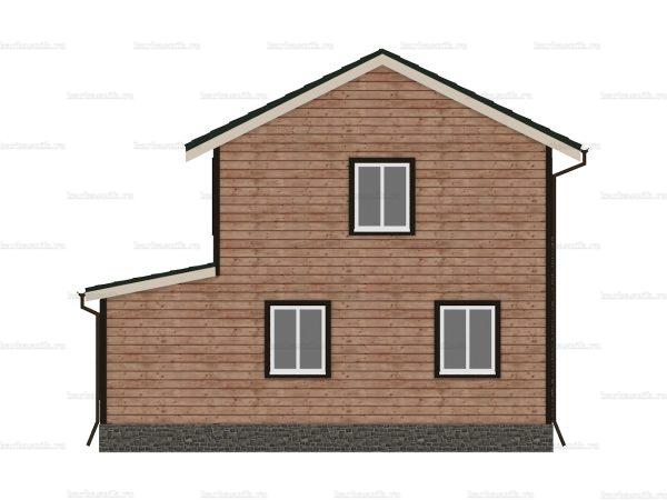 Дом под ключ с двухскатной крышей 8 на 6 фото 5