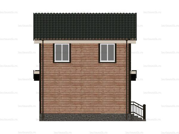 Дом под ключ с двухскатной крышей 8 на 6 фото 4