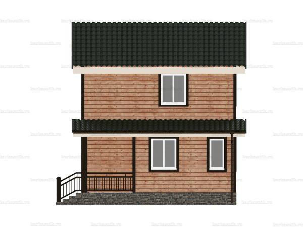 Дом под ключ с двухскатной крышей 8 на 6 фото 6