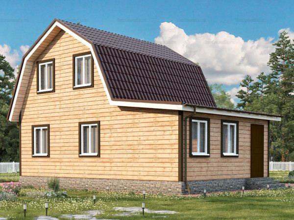 Дом из бруса с внутренней отделкой 9х6
