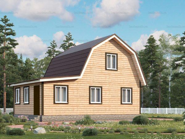 Проект каркасного дачного дома 9х6 для строительства под ключ