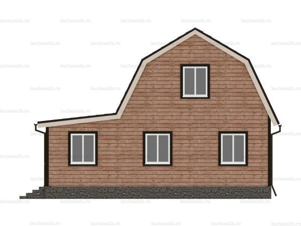 Дом из бруса с внутренней отделкой 9х6 фото 3