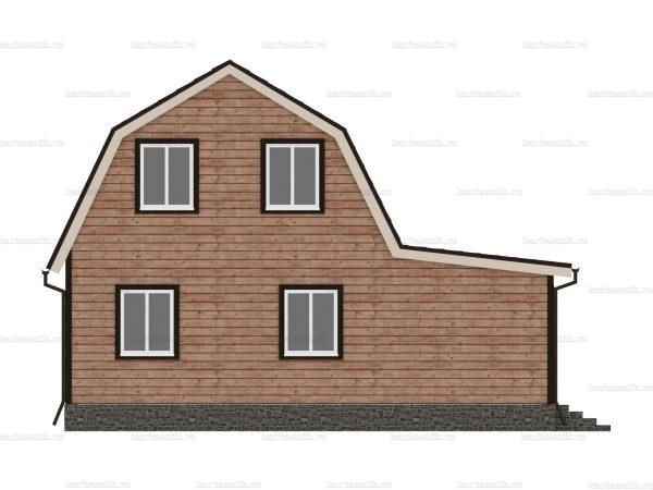 Дом из бруса с внутренней отделкой 9х6 фото 5