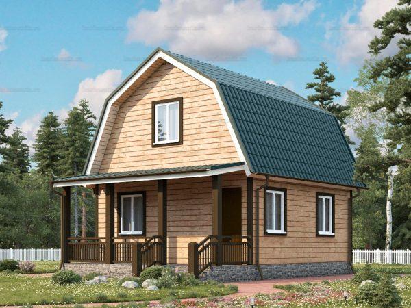Дом под ключ с ломаной крышей 7.5х6