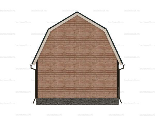 Дом из бруса с открытой верандой 7.5х6 фото 5