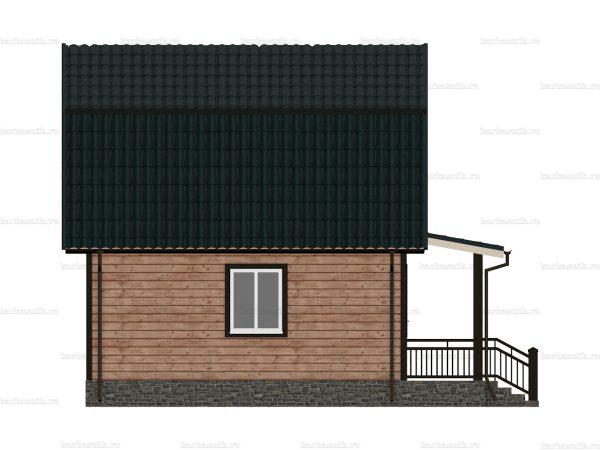 Дом из бруса с открытой верандой 7.5х6 фото 4