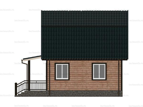 Дом из бруса с открытой верандой 7.5х6 фото 6