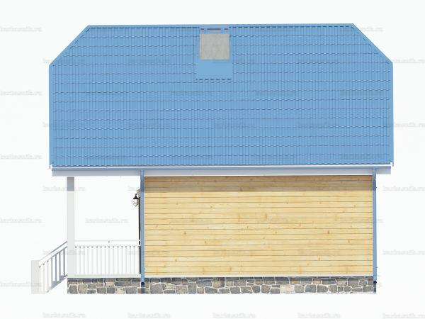 Дом из бруса 8 на 6 фото 3