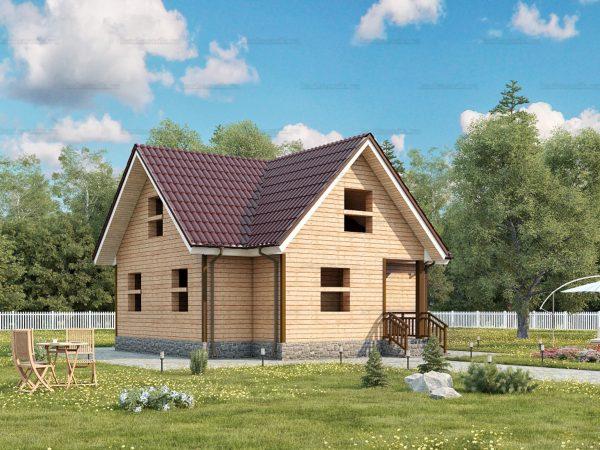 Проект дачного домика 8х7.5 для проживания