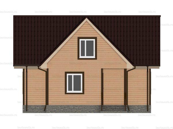Дом  из бруса 8х7.5 фото 3