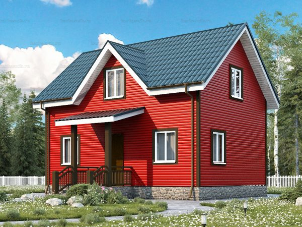 Каркасный дом для постоянного проживания 8х6