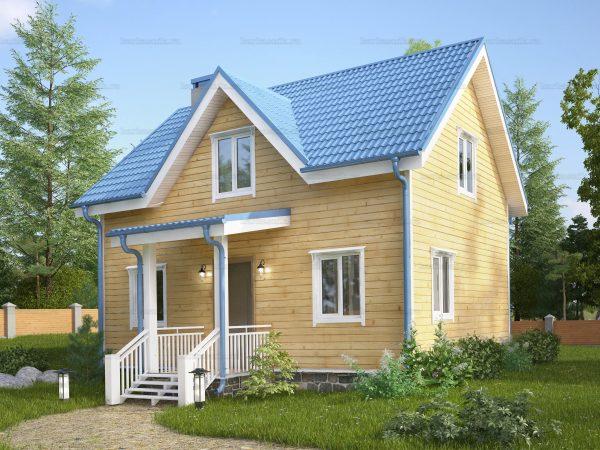 Дом из бруса 8х6
