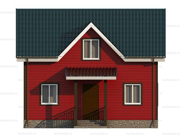 Каркасный дом для постоянного проживания 8х6 фото 3
