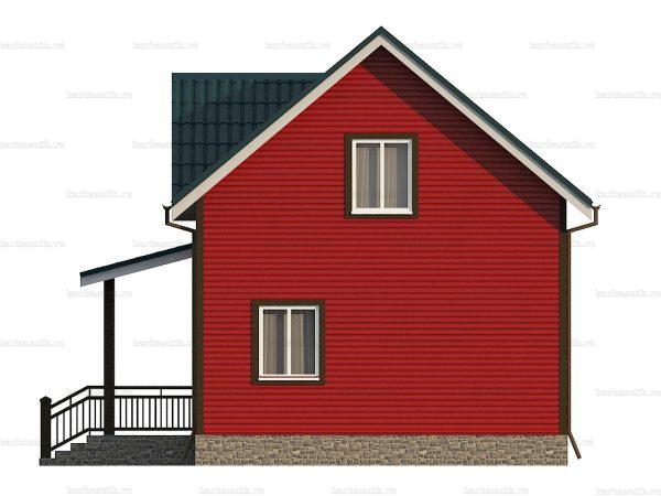 Каркасный дом для постоянного проживания 8х6 фото 4
