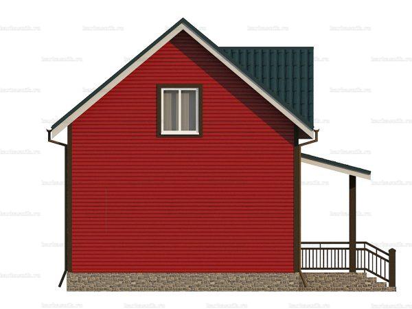 Каркасный дом для постоянного проживания 8х6 фото 6