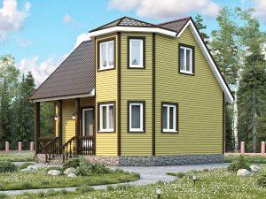 Дом из каркаса для зимнего проживания 7х7