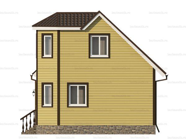 Дом из каркаса для зимнего проживания 7х7 фото 3