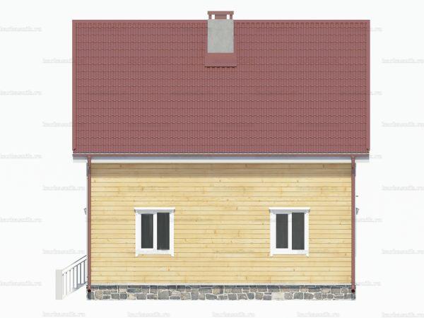 Дом из бруса 8х8 фото 3