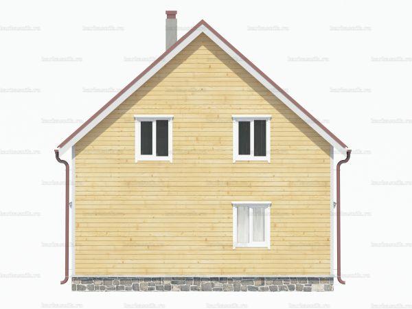 Дом из бруса 8х8 фото 4