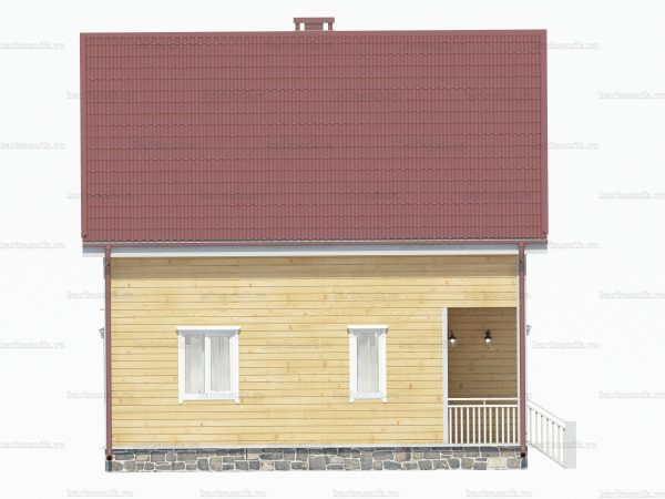 Дом из бруса 8х8 фото 5