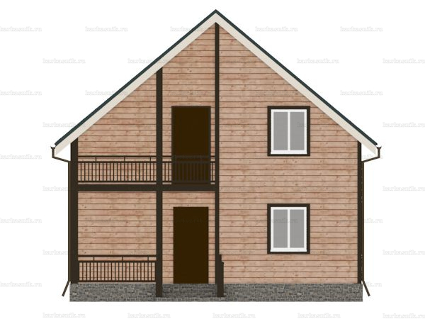 Каркасный дом с четыремя комнатами 8х8 фото 3