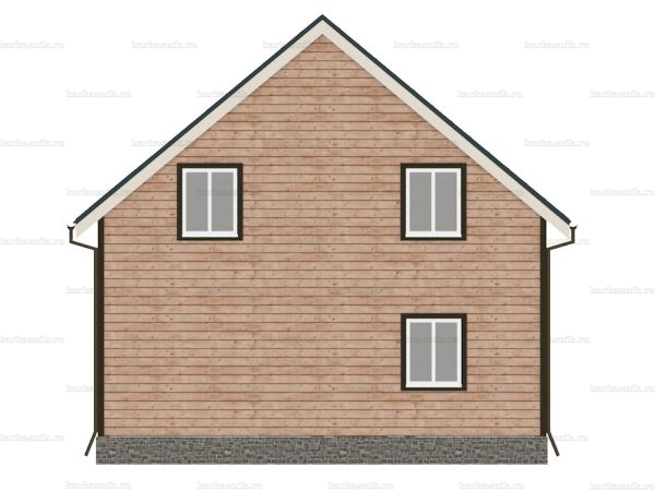 Каркасный дом с четыремя комнатами 8х8 фото 5