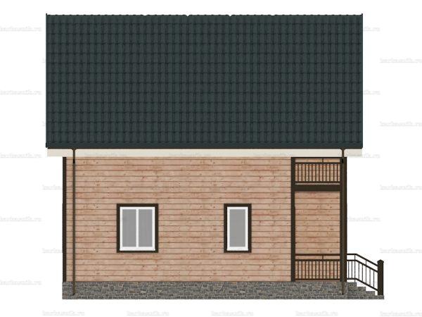 Каркасный дом с четыремя комнатами 8х8 фото 4