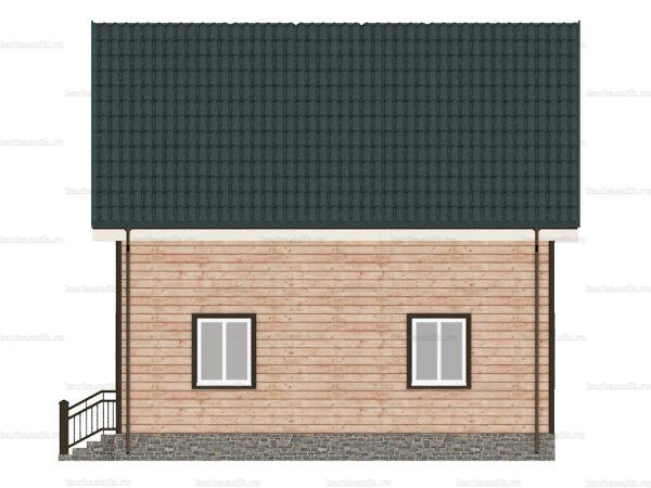 Каркасный дом с четыремя комнатами 8х8 фото 6