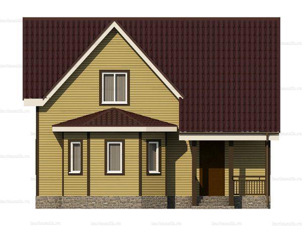 Каркасный дом с пятью комнатами 9х8 фото 3